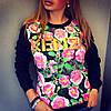 Женский свитшот Kenzo на флисе (Турция)