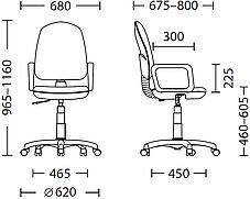 Кресло офисное Comfort GTP механизм CPT крестовина PL62 ткань С-11 (Новый Стиль ТМ), фото 3