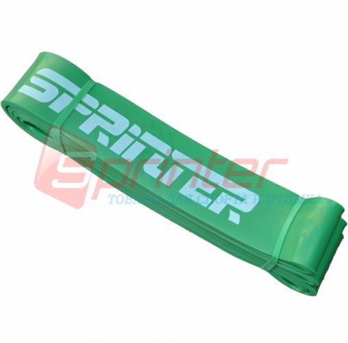 Резиновая петля 19-65 кг. 206*4,6*0,4 см.(зелёная).