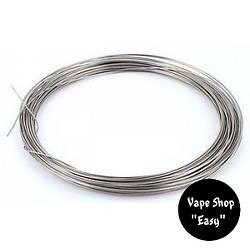 Проволка для электронных сигарет Нержавейка 0.4 мм - 1 метр.