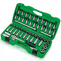Набор инструментов 1/2'' (головки с битами) 55 ед.,(GAAI5501) TOPTUL, фото 1