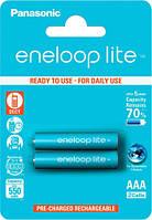 Аккумуляторы Eneloop Lite AAA (550 2BP mAh Ni-Mh), 2 шт, Panasonic (BK-4LCCE/2BE)