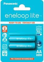 Аккумуляторы Eneloop Lite AA (950 2BP mAh Ni-Mh), 2 шт, Panasonic (BK-3LCCE/2BE)