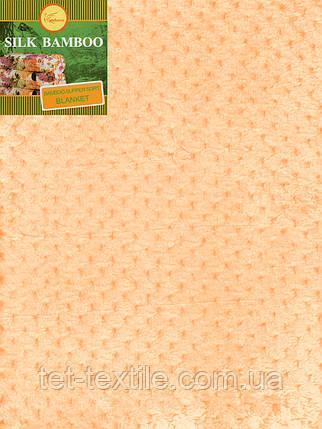 Плед из бамбукового волокна Koloco ярко-персиковый (200х230), фото 2