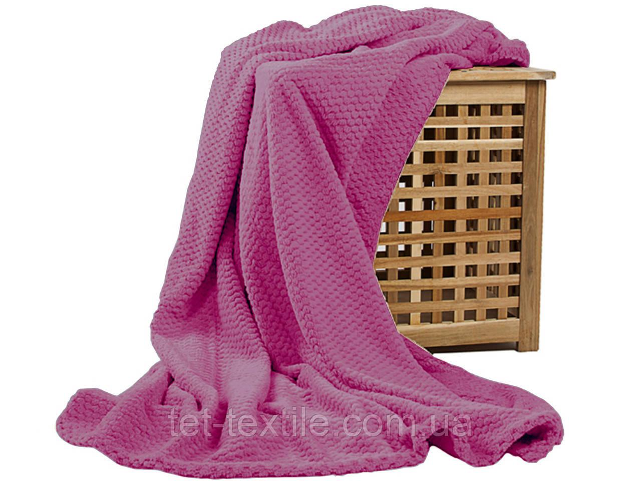 Плед из бамбукового волокна Koloco розовый (200x230)