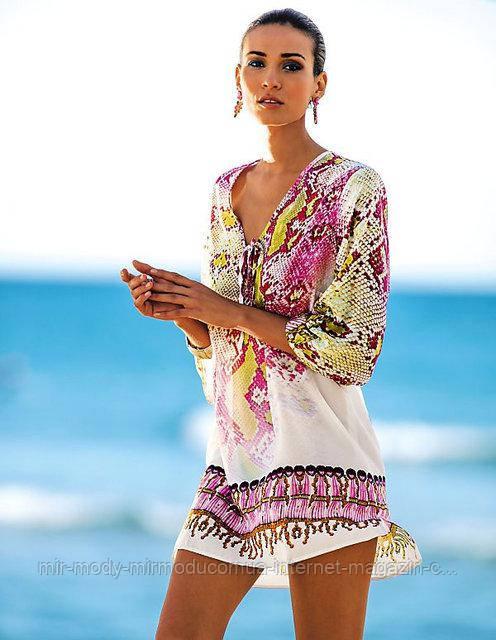 Пляжное платье с рисунком  AL7022