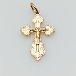 Крест Православный детский, позолота 18К Fallon