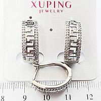 Серьги Xuping родий 1.9см с834