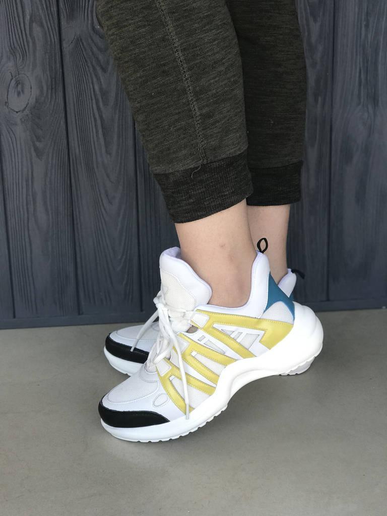 Кожаные женские кроссовки Louis Vuitton Lv Archlight реплика