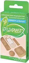 Пластыри медицинские ЛЮКСПЛАСТ Универсальные на полимерной основе 40 шт., 5 видов