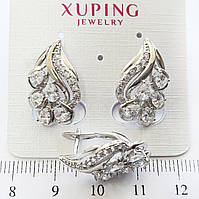 Серьги Xuping родий 2.2см с834
