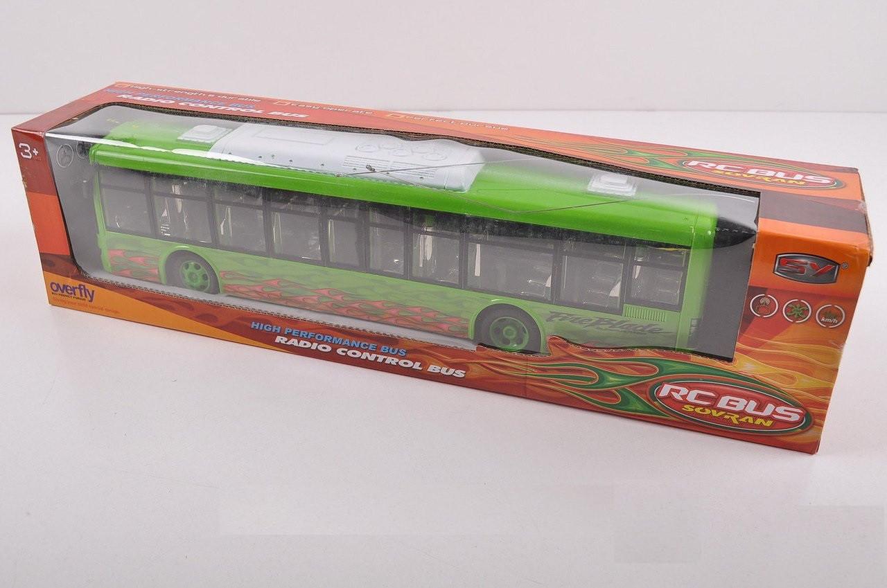 Автобус 666-175 радіокерований, гумові колеса, світло, на батарейки, 2 кольори, в коробці, 48-12-10 см.