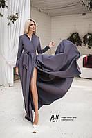 Женское  платье в пол на запах с длинным рукавом. Цвета!, фото 1