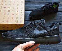 "Мужские кроссовки Nike Roshe Run II ""Triple Black"". Живое фото (Реплика ААА+)"