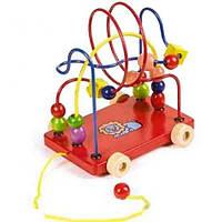 Развивающая игрушка Мир деревянных игрушек Лабиринт-каталка Львенок (Д011)