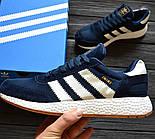 Мужские кроссовки Adidas Iniki Runner blue. Живое фото (Реплика ААА+), фото 2