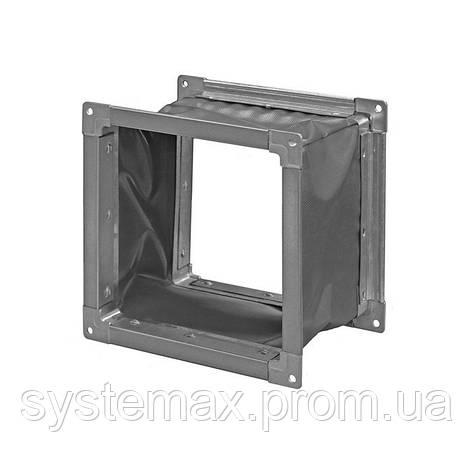 Гибкая вставка (виброизолятор) Н.00.00-07 прямоугольная (228х228 мм), фото 2