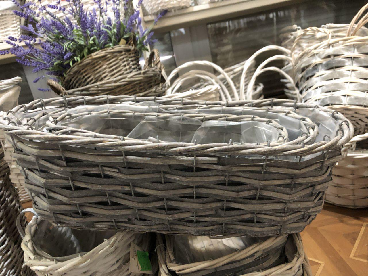 Комплект корзинок 3шт для декора