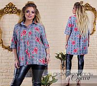Женская рубашка батал 46-62, фото 1