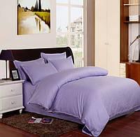 Комплект постельного белья в полоску страйп-сатин ЕВРО цвет Лиловый