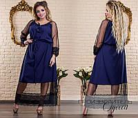 Женское батальное платье 46-62