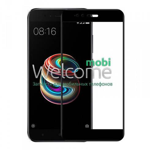 Стекло для Xiaomi Mi A1,Mi 5X (0.3 мм, 2.5D, с олеофобным покрытием) black