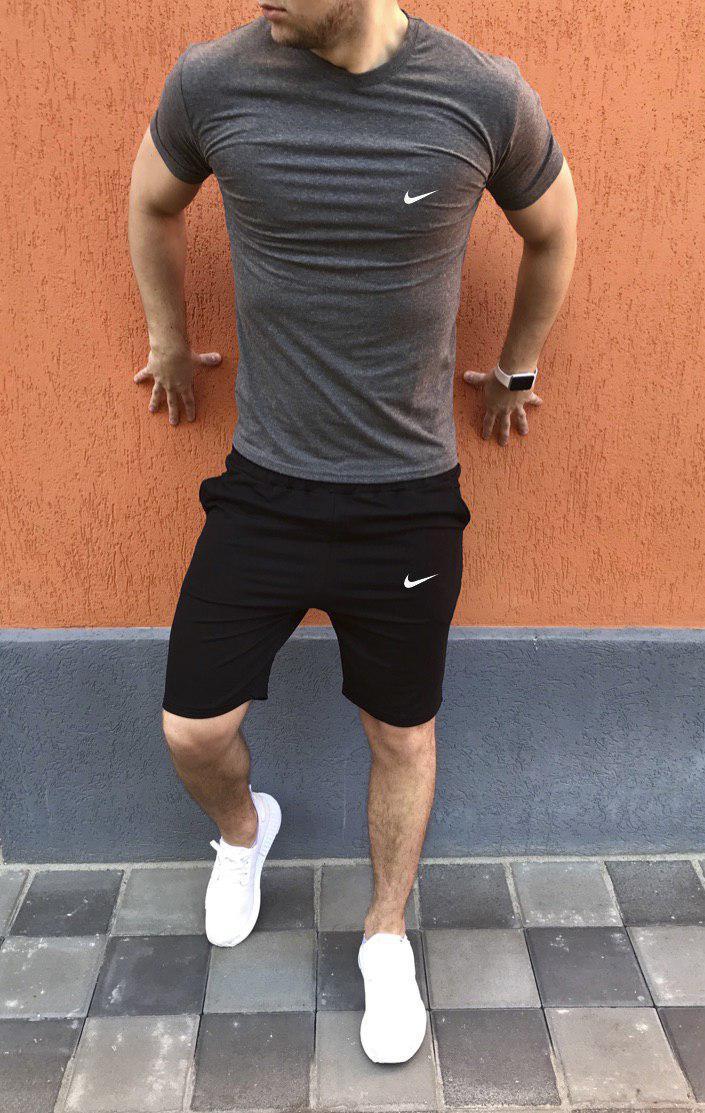 Летний комплект футболка + шорты мужские Nike (реплика)