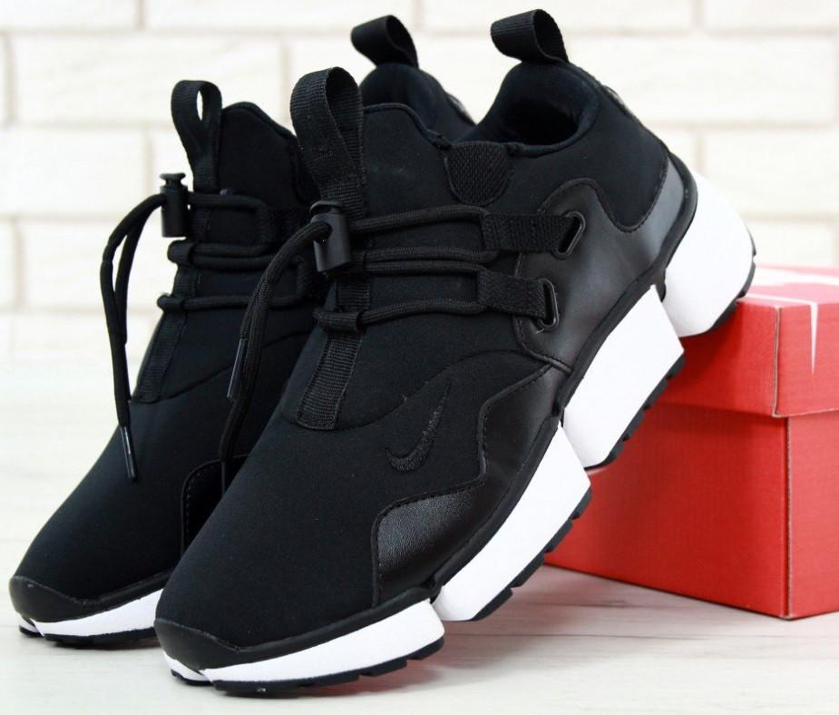 """Чоловічі кросівки Nike Pocket Knife DM """"Black/White"""". Живе фото. Топ репліка ААА+"""
