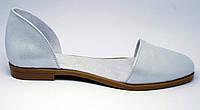 Балетки женские кожаные - летняя обувь из натуральной кожи