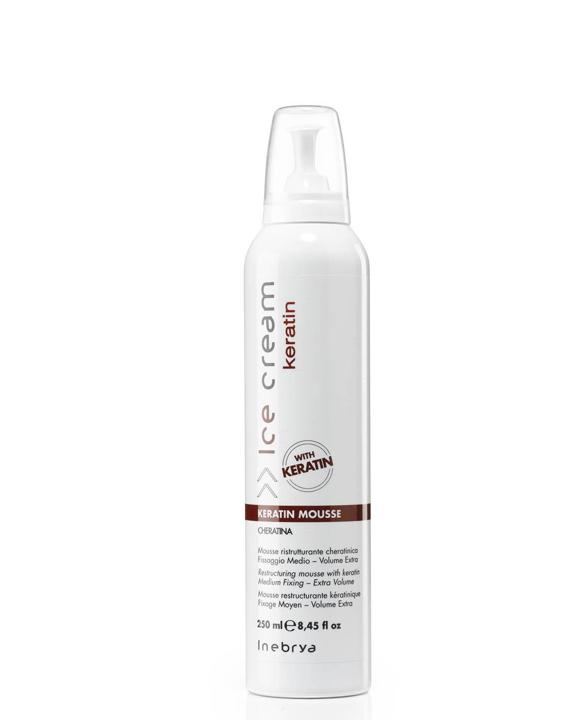Мусс для волос с кератином Inebrya 250ml (6163)