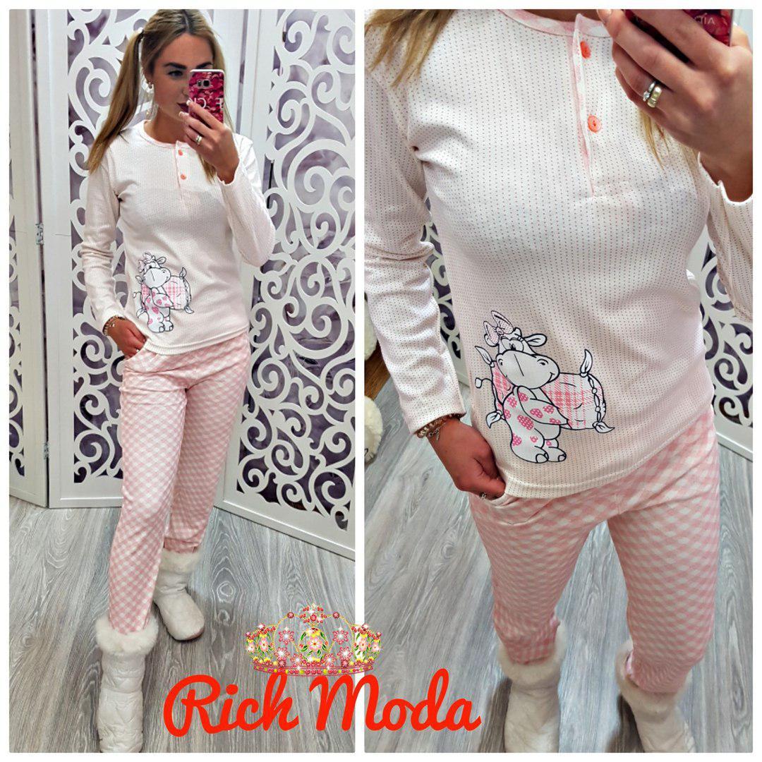 ed3b00296e536 Женская пижама Турция интерлок 100% хлопок - Интернет-магазин