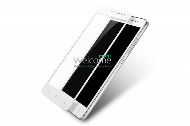 Стекло для XIAOMI Redmi Note 3 (0.3 мм, 2.5D, с олеофобным покрытием) white
