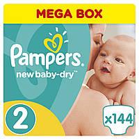 Подгузники Pampers New Baby-Dry Размер 2 (Mini) 3-6 кг, 144 подгузников