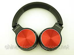 Bluetooth наушники P19 Wireless Headset Extra Bass с FM MP3, в стиле Sony, черные с красным, фото 3