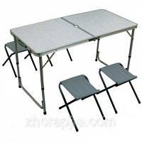 Стол + 4 стула для кемпинга, отдыха на природе, пикника и кэмпинга