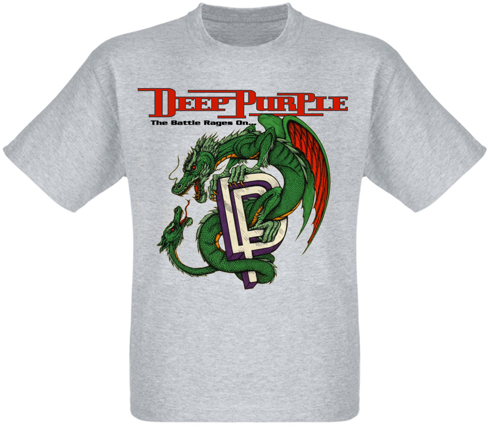 Футболка Deep Purple - The Battle Rages On (меланж)