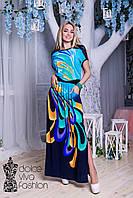 Летнее молодежное Платье размеры 48-56 код 1750, фото 1