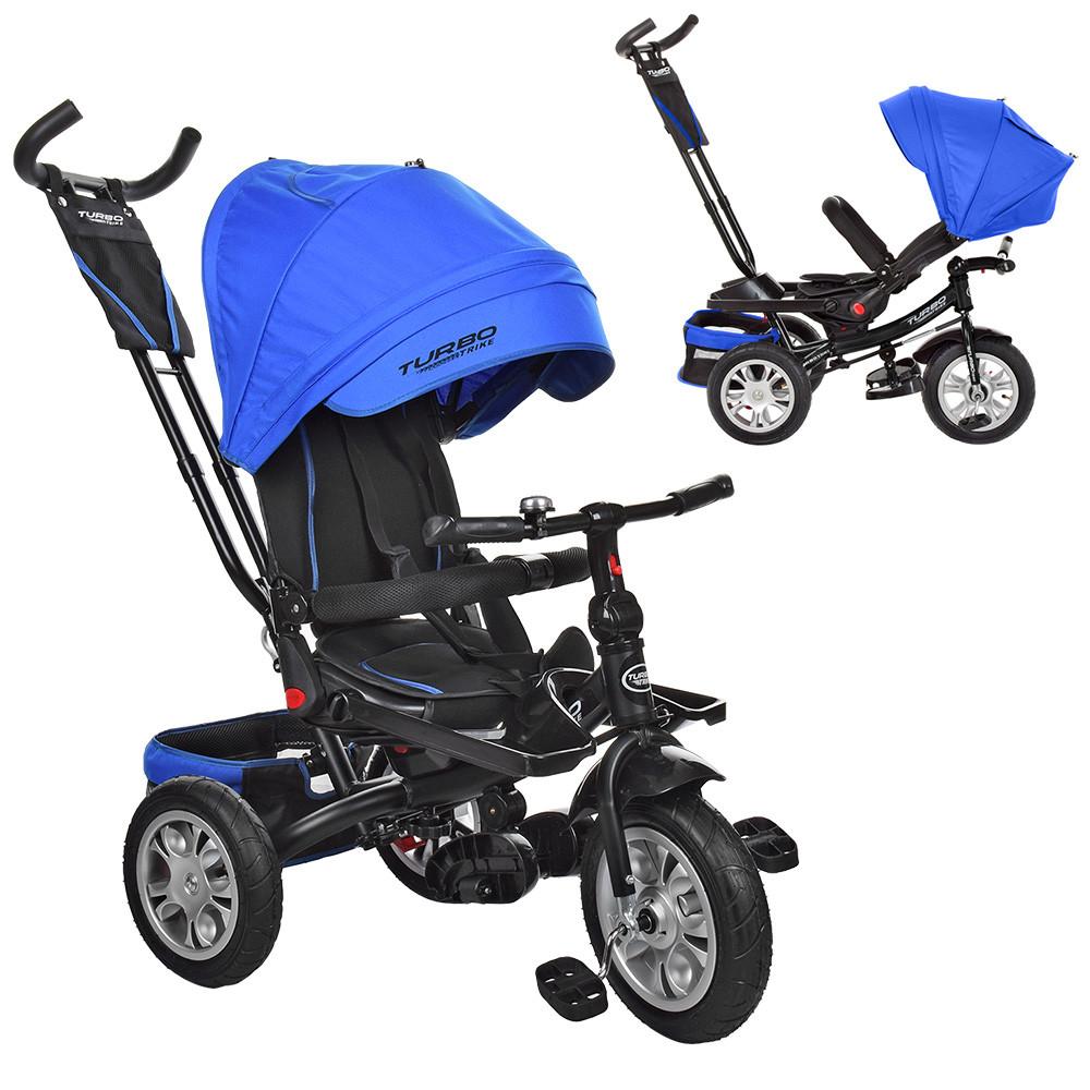 Велосипед трехколесный с поворотным сиденьем трансформер М 3646A-10 TURBOTRIKE трансформер