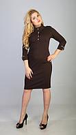 Платье миди  с молнией на спине(в расцветках) 541