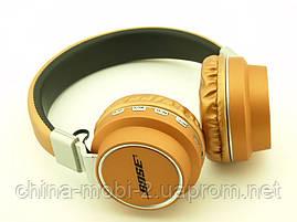 Bluetooth наушники Bose AZ-05 Wireless Headset Extra Bass с FM MP3, золотые, фото 3