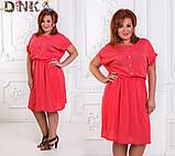 Легкое летнее штапельное платье в размерах 50-56, фото 2
