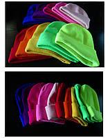 Женская мужская зимняя теплая шапка унисекс цветная яркая модная стильная