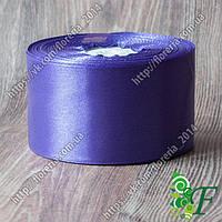 046-Атласная лента 33 м. 50мм фиолетовая