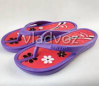 Женские сланцы шлепки  вьетнамки шлепанцы пляжные фиолетовые 36/37р.