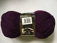 Нитки для Вязания фиолетовый цвет, шерстяная пряжа, Пряжа Лана Голд Классик, Alize Lana Gold Classic