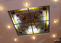 Стеклянный потолок Тиффани с подсветкой