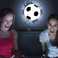 Ночник 3D football light , детский ночник, светильник футбольный мяч, светильник мяч в стене