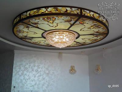 Стеклянный потолок Тиффани ручной работы