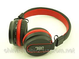 JBL AZ-01 Bluetooth навушники Wireless Headset Extra Bass з FM MP3 копія, чорні з червоним, фото 3