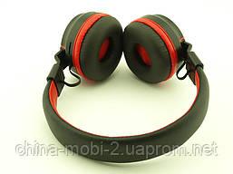 JBL AZ-01 Bluetooth навушники Wireless Headset Extra Bass з FM MP3 копія, чорні з червоним, фото 2
